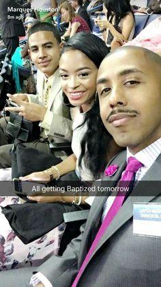 Marqus Houston's achieving his goal of baptism!