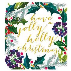 Buy Caroline Gardner Jolly Holly Christmas Charity Christmas Cards, Pack of 5…