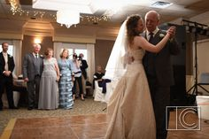 Love this sweet moment between the bride and her father! Photo by: Colby Campbell Photography