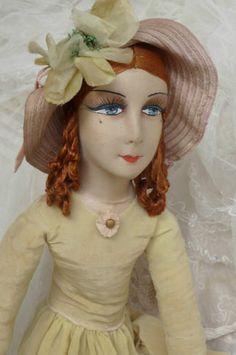 Antique French Boudoir Doll Paris Silk Hat Fashion Doll C 1920 | eBay