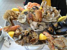 Seafood galore at Amsterdam's Café-Restaurant Amsterdam I miss it! http://travelingbytes.com/amsterdams-cafe-restaurant-amsterdam/