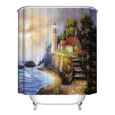 Home Bath Room Decor Verious Nature Forest Bathroom Shower Curtain Waterproof Polyester Home Decor 12 Hook #Affiliate