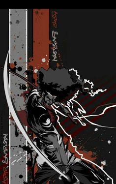 Afro Samurai Afro Samurai, Samurai Jack, Black Comics, Phoenix Art, Bleach Art, Warrior Spirit, Anime Artwork, Art Pictures, Cool Art