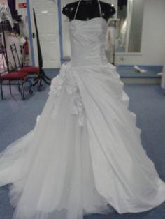 White ballgown style dress size 10