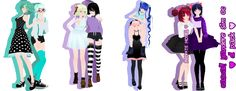 [MMD PACK 5] Casual! Yandere Sim OCs [DL] by InvaderIka
