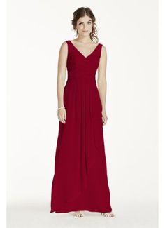 Long Illusion Tank Crinkle Chiffon Dress W10841