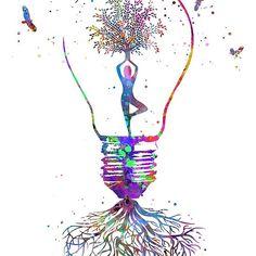 Yoga tree, yoga tree pose, tree rooted, yoga pose in bulb Unique Drawings, Art Drawings, Yoga Tree Pose, Mustache Drawing, Roots Drawing, Tree Roots, Yoga Art, Anatomy Art, Lip Designs