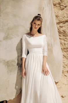Aria Bride 2020 Spring Bridal Collection – The FashionBrides Greece Wedding, Bridal Collection, Wedding Gowns, White Dress, Bridesmaid Dresses, Spring, Unique, Fabric, Model