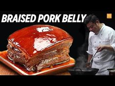Master Chef John Zhang shows you tips and simple steps on making Braised pork belly or Dong Po Rou (東坡肉) which is an iconic traditional Chinese braised pork . Best Chinese Food, Chinese Recipes, Asian Recipes, Braised Pork Belly, Pork Belly Recipes, Best Chef, Food Tasting, Food Shows, Pork Dishes