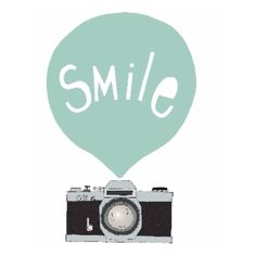 Smile [Mint] Camera A1 Framed Print (465 BRL) ❤ liked on Polyvore featuring home, home decor, wall art, white wall art, tree home decor, white tree, white home decor and tree wall art