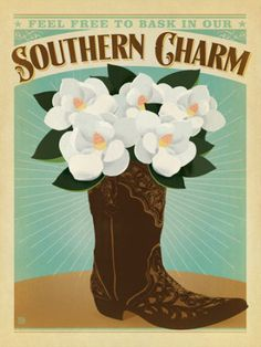 Found it at Wayfair - Southern Charm Boot Wall Art by Anderson Design Group Southern Pride, Southern Sayings, Southern Girls, Southern Comfort, Simply Southern, Southern Belle, Southern Living, Southern Humor, Framed Wall Art