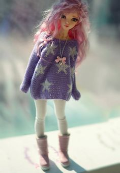 Oversized stars sweater for minifee CandyDoll by CandyDollShop