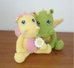 This Crochet Amigurumi Dragon is an intermediate project that allows for lots of color variation and personalization. Though you work with very simple and basic stitches, like single crochet stitches, you're also working with thinner yarn and much sm