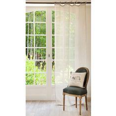 Beige linen knot curtain 105 x 300 cm |  Maisons du Monde