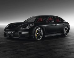 2014 Jet black Panamera Turbo S by Porsche Exclusive is a looker