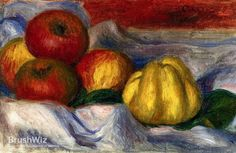 Still Life With Apples And Quinces by Pierre-Auguste Renoir - Oil Painting Reproduction - BrushWiz.com