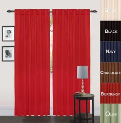 """Utopia Bedding Thermal Insulated Blackout Curtains, Set of 2 Panels, 7 Back Loops per Panel, 2 Tie Back Included, Drop Curtain (Long), 52"""" Width x 84"""" Length, Reduces Heating and Cooling Costs, Blocks Light for a Restful Night's Sleep, Protects Rugs and Furniture from Fading (Burgundy)"""