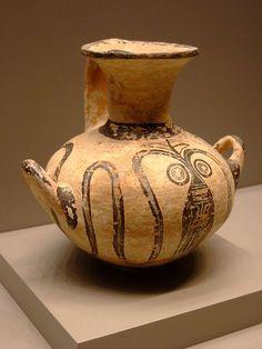 Water jar (Hydria) with Cuttlefish Mycenaean 1300-1200 BCE Terracotta