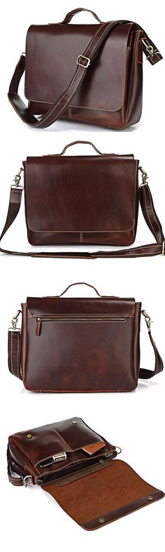 "Computer Bag Genuine Leather Briefcase Messenger Bag 13"" 14"" 15"" Laptop 13"" 15"" MacBook Bag"