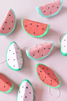 DIY Paper Mache Watermelon Charms