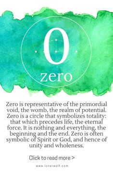 The mystical meaning of number 0: potential, Spirit, unity / numerology