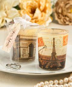 Parisian Themed Eiffel Tower Design Gl Votive Holders Vintagewedding Eiffeltower Candle Wedding Favors