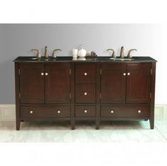 Corona Double Sink Bathroom Vanity GM-6124-72