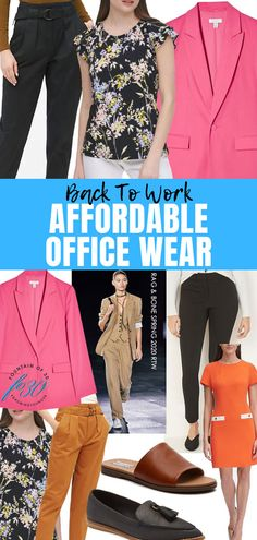 Are you going back to work soon? We found chic and affordable office wear. #fashion #office #jacket #pants #shoes