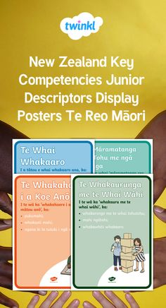 Teach Te Reo Māori affirmations key competencies to your children with these helpful posters. Affirmations, Posters, Key, Display, Teaching, Maori, Floor Space, Unique Key, Billboard
