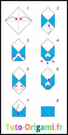 folding origami envelope, the steps for constit . - Informations About folding origami en Envelope Diy, Envelope Origami, Origami Letter, How To Make An Envelope, How To Make Envelopes, Diy Envelope Tutorial, Making Envelopes, Fold Paper Into Envelope, Heart Envelope