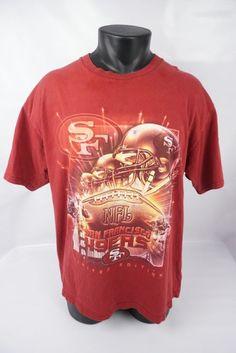Vintage Lee Sport San Francisco 49ers NFL Football SS T-shirt Men's Adult Large #LeeSport #GraphicTee #SanFrancisco49ers