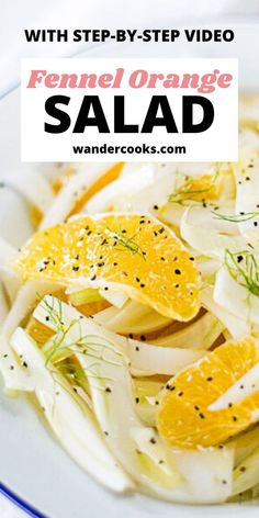 With only 4 ingredients, Italian Fennel & Orange Salad is the perfect salad recipe for winter and ready in under 5 minutes. Crisp slices of fennel, juicy orange, and a splash of olive oil make this a refreshing side dish, perfect for lunch or dinner. Easy Summer Salads, Summer Salad Recipes, Easy Salad Recipes, Easy Dinner Recipes, Easy Meals, Perfect Salad Recipe, Fennel And Orange Salad, Healthy Italian Recipes, 4 Ingredient Recipes
