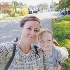 """Jane Richmond on Instagram: """"On our way to the bus this morning in our Winston Pullovers 💕 #memademay2019 #MMMAY19 #winstonpullover #lionbrandthickandquick…"""" Style Inspiration, Pullover, Couple Photos, Knitting, Fitness, Instagram, Color, Couple Shots, Tricot"""