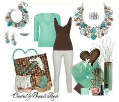 Coastal Breeze necklace, bracelet and earrings. Finley ring and Sterling ring all from Premier Designs.