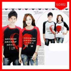 Fashion Baju Couple Love Raglan Terlaris