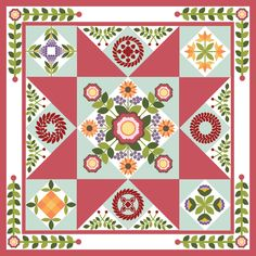 March 2016 Serendipity BOM from Sycamore Hill. The Center Medallion is $19 but the other parts of the quilt are free.