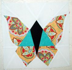Free Quilting Pattern: Joan's Vintage Butterfly Block