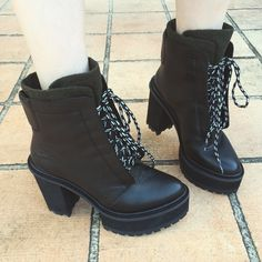 Melissa in the Shellys London Celee Leather Boot || Get the boots: http://www.nastygal.com/shellys-london/shellys-london-celee-leather-boot--black?utm_source=pinterest&utm_medium=smm&utm_term=ngdib&utm_content=omg_shoes&utm_campaign=pinterest_nastygal