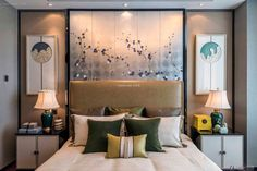 Elegant new Chinese-style bedroom interior design 2015
