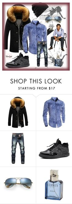 """Bez naslova #72"" by melisacamdzic ❤ liked on Polyvore featuring Ray-Ban, Calvin Klein, Burton, men's fashion and menswear"