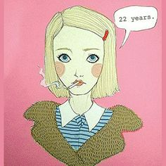 """How long have you been a smoker?"" / by Simone Chiang  The Royal Tenenbaums  #Margot #Tenenbaum #Wesanderson"