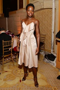 Lupita Nyong'o in Jason Wu for Boss at a 2016 Tonys after party.