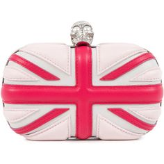 Alexander McQueen Brittania Leather Box Clutch found on Polyvore