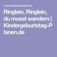 Ringlein, Ringlein, du musst wandern | Kindergeburtstag-Planen.de
