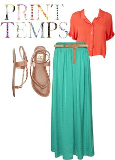 Summer Maxi, created by alejandra-14 on Polyvore