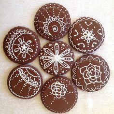Henna Design cookies via Etsy.