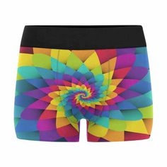 INTERESTPRINT Mens All-Over Print Boxer Briefs Rainbow Colors Lip XS-3XL