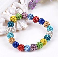Fashion Jewelry Handmade Crystal Shamballa Bangles Strand Charm Stone Chain Beaded Bracelets For Women