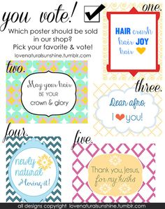 Vote for your favorite Natural Hair poster!