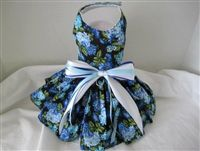 Dog Dress Blue Flower